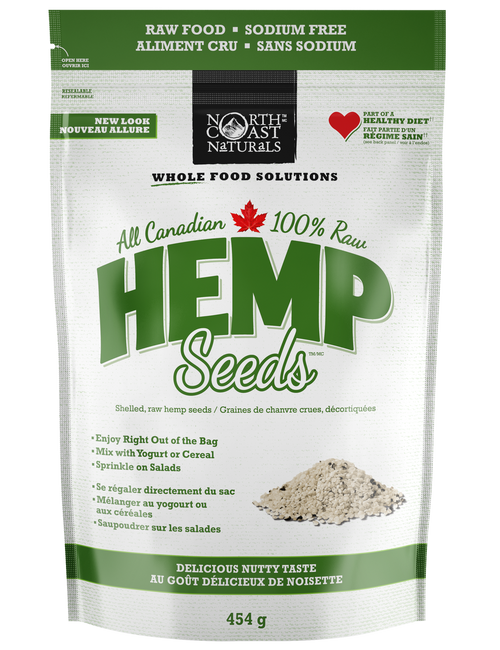 North Coast Naturals | 100% Raw Hemp Seeds (454g)