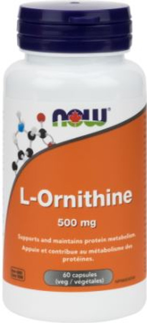 Now: L-Ornithine (500mg) (60 Vegetable Capsules)