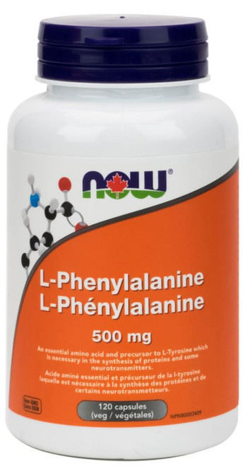 Now: L-Phenylalanine (500mg) (120 Capsules)