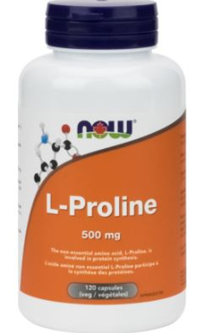 Now: L-Proline (500mg) (120 Vegetable Capsules)