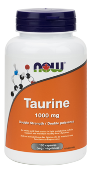 Now: Taurine (1000mg) (100 Vegetable Capsules)