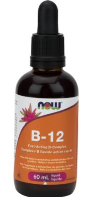 Now: B-12 Fast Acting B Complex Liquid (60ml)