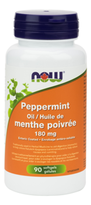 Now: Peppermint Oil (180mg) (90 Soft Gels)