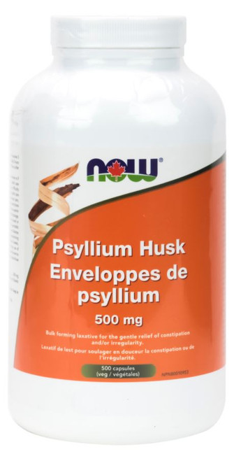 Now: Psyllium Husk (500mg) (500 Capsules)