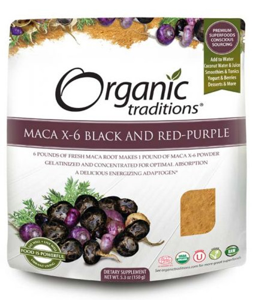 Organic Traditions: Maca X-6 Black and Red-Purple (150g)