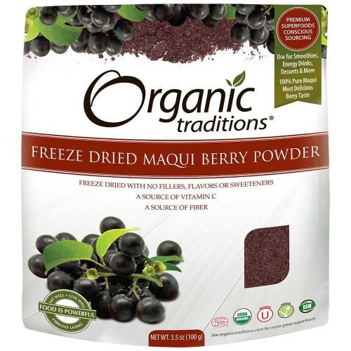 Organic Traditions: Freeze Dried Maqui Berry Powder (100g)