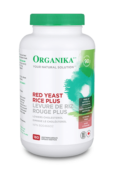 Organika: Red Yeast Rice PLUS (180 Vegetable Capsules)