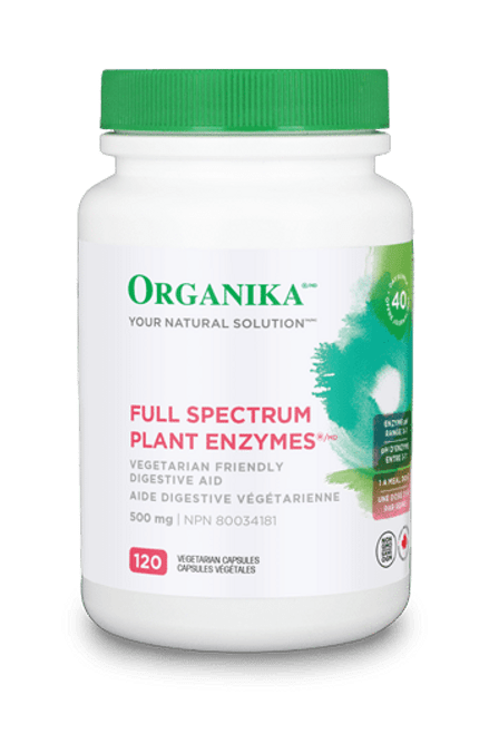 Organika: Full Spectrum Plant Enzymes (120vcaps)