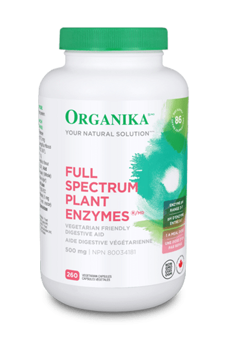 Organika: Full Spectrum Plant Enzymes (260 VCaps)