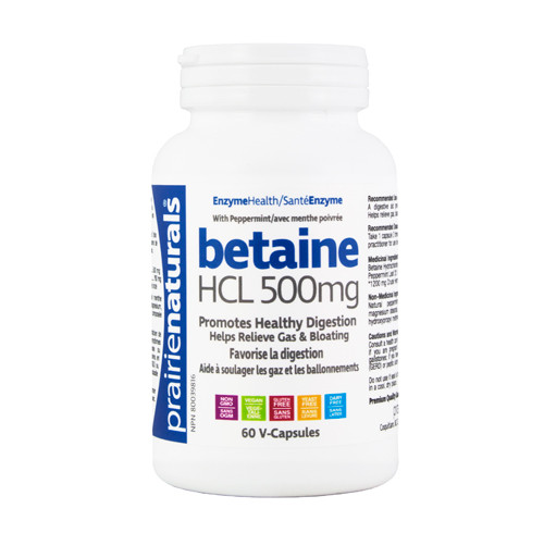 Prairie Naturals: Betaine HCL (500 mg) (60 VCaps)