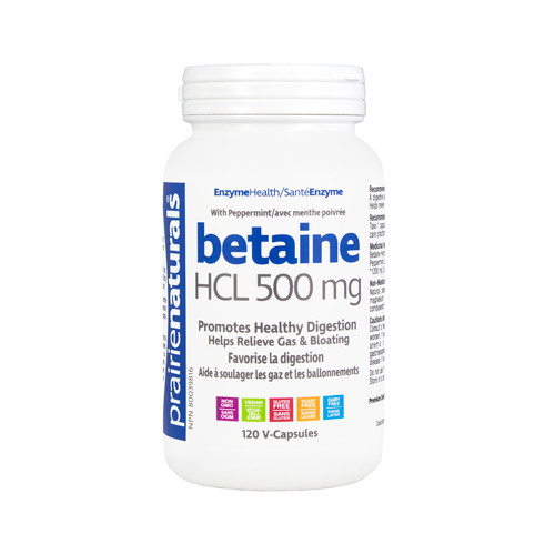 Prairie Naturals: Betaine HCL (500 mg) (120 VCaps)