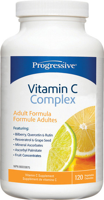 Progressive: Vitamin C Complex Adult Formula (120 Vegetable Capsules)
