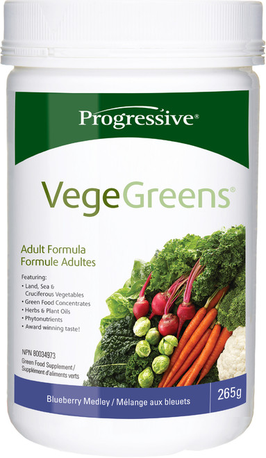 Progressive: VegeGreens - Blueberry Medley (265g)