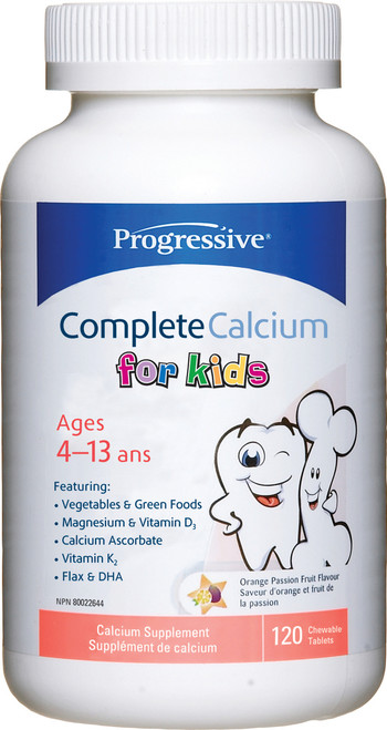 Progressive: Complete Calcium for Kids (120 Chewable Tablets)