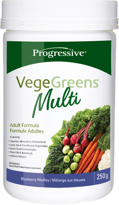 Progressive: VegeGreens Multi - Blueberry Medley (250g)