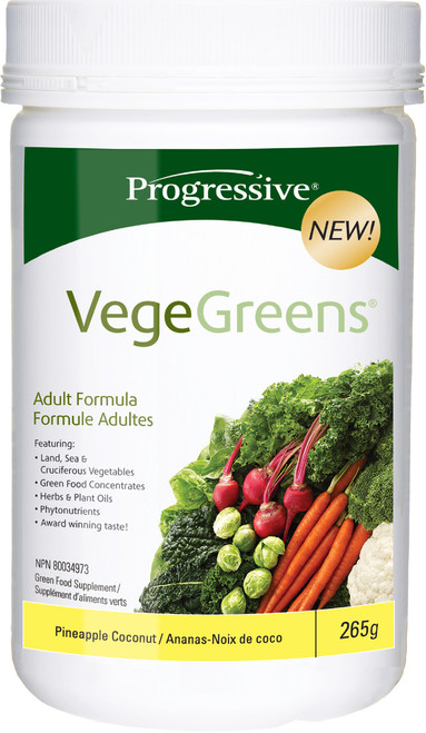 Progressive: VegeGreens - Pineapple Coconut (265g)