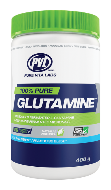 PVL 100% Pure Glutamine - Blue Raspberry (400g)