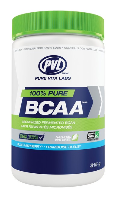 PVL 100% Pure BCAA - Blue Raspberry (315g)