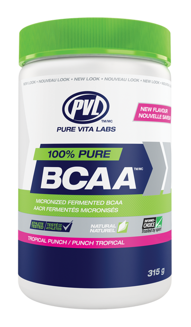 PVL 100% Pure BCAA - Tropical Punch (315g)