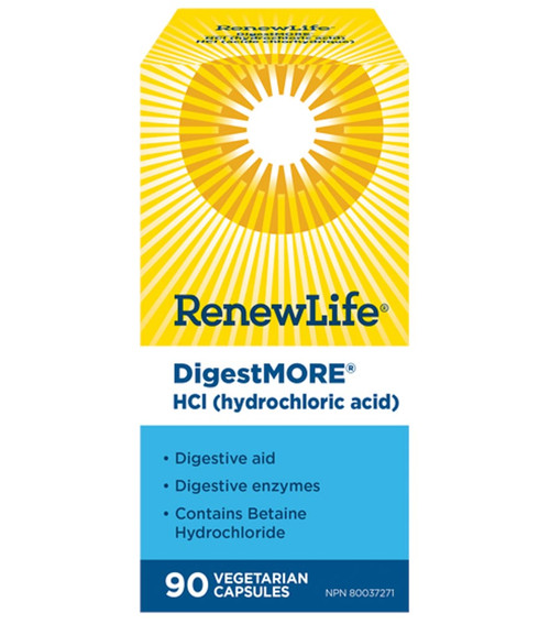 Renew Life: DigestMORE HCl (90 VCaps)