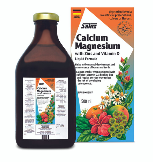 Salus Calcium Magnesium with Zinc and Vitamin D 500ml