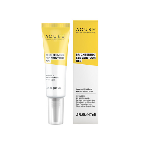 Acure: Brightening Eye Contour Treatment gel - Seaweed & Hibiscus