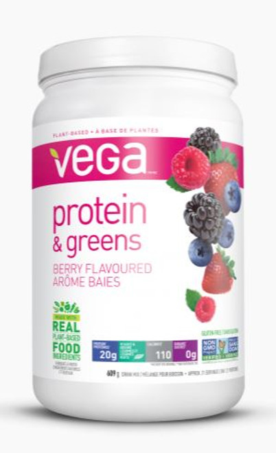 Vega: Protein & Greens - Berry (609g)