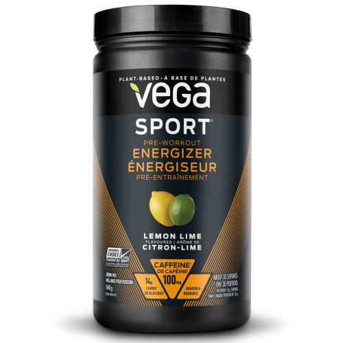 Vega Sport Pre-Workout Energizer Lemon-Lime (540g)