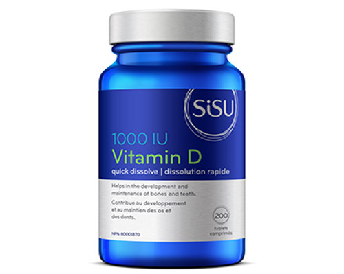 Sisu: Vitamin D (1000 IU) (200 Tablets)