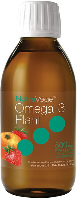 Nature's Way: NutraVege Omega - 3 Plant - Strawberry Orange Flavour (200ml)