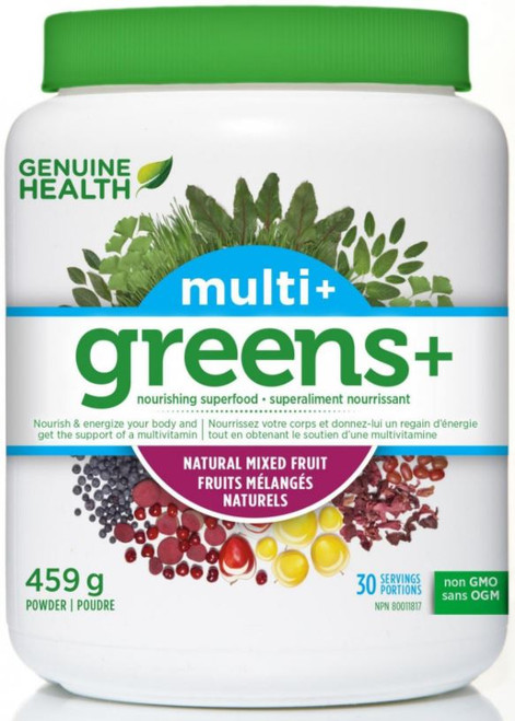 Genuine Health: Greens+ Multi+ - Natural Mixed Fruit 459g