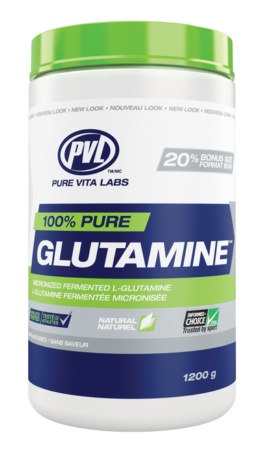 PVL 100% Pure Glutamine - Unflavoured (1200g)