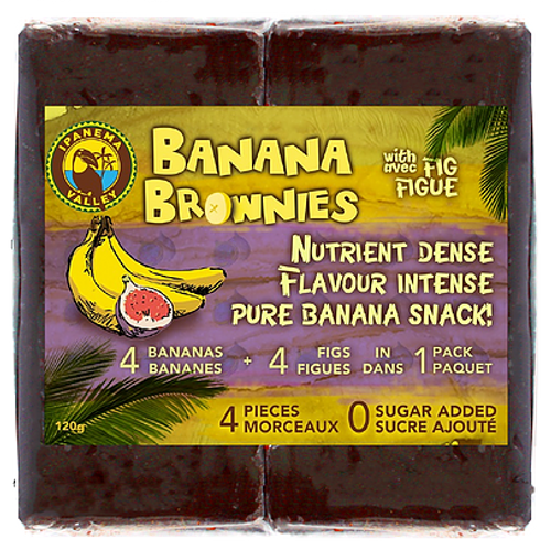 Ipanema: Banana Brownies with FIG (4 Pieces/120g)