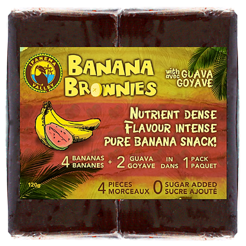 Ipanema: Banana Brownies with Guava (4 Pieces/120g)