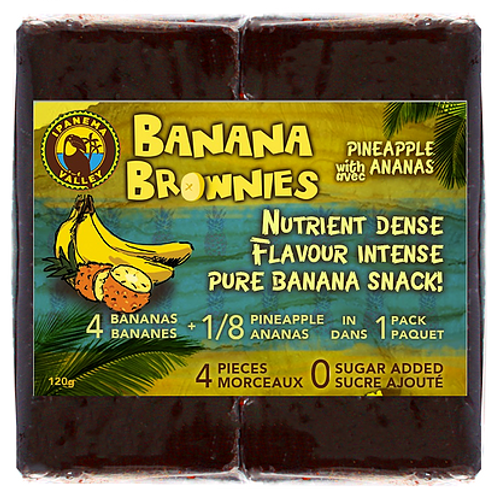 Ipanema: Banana Brownies with Pineapple (4 Pieces/120g)