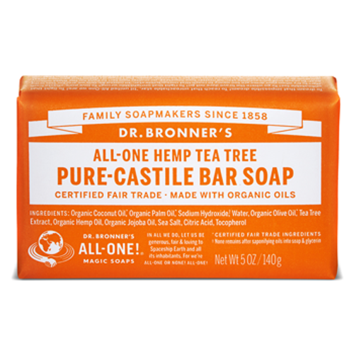 Dr. Bronner's Magic Soap: Tea Tree Pure Castile Soap (140g)