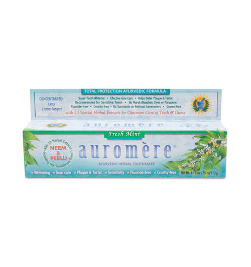 Auromere: Ayurvedic Herbal Toothpaste - Fresh Mint (117g)