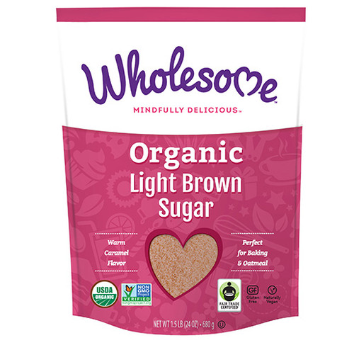 Wholesome: Organic Light Brown Sugar (680g)
