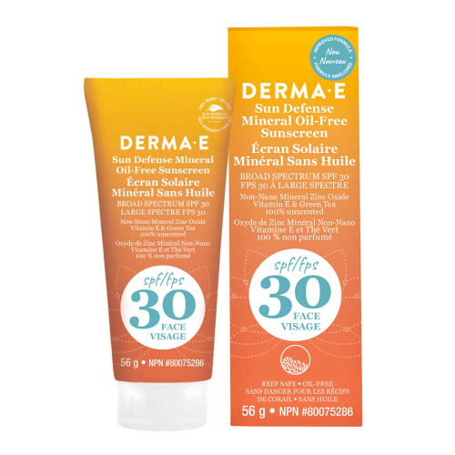 Derma E: Natural Mineral Sunscreen Oil-Free SPF 30 Face (56g)