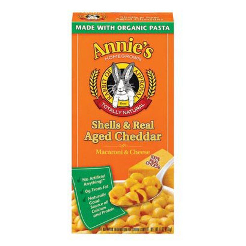 Annie's Homegrown: Shells with Real Aged Cheddar (170g)