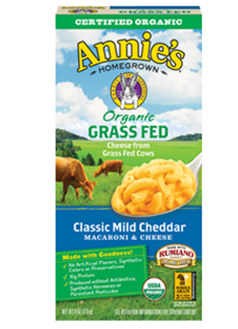 Annie's Homegrown: Organic Grass Fed Macaroni & Cheese - Classic Mild Cheddar (170g)