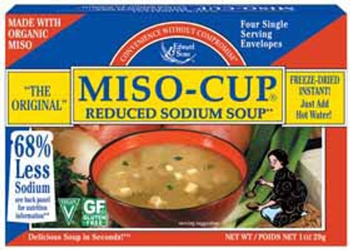 Edward & Sons: Miso Cups Low Sodium Soup (29g)