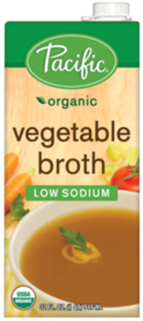 Pacific: Organic Vegetable Broth Low Sodium (1l)