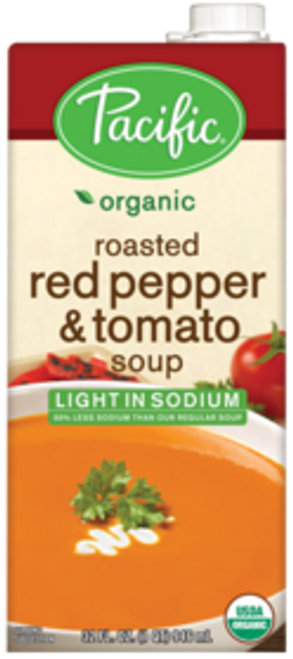 Pacific: Organic Red Pepper & Tomato Soup Lightly Salted (1l)