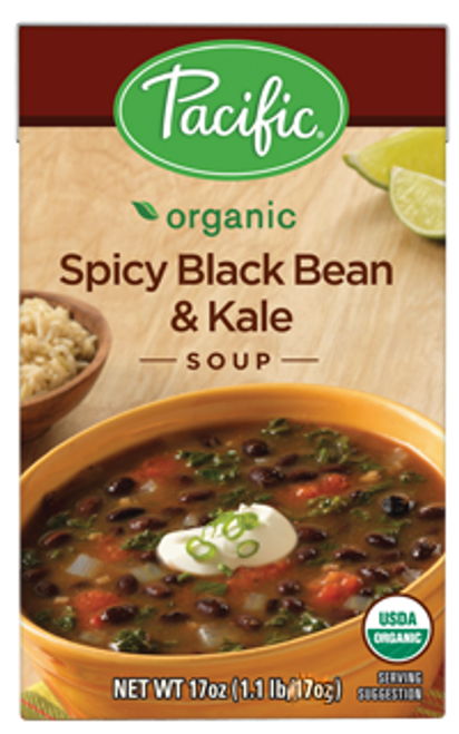 Pacific: Organic Spicy Black Bean & Kale Soup (472ml)