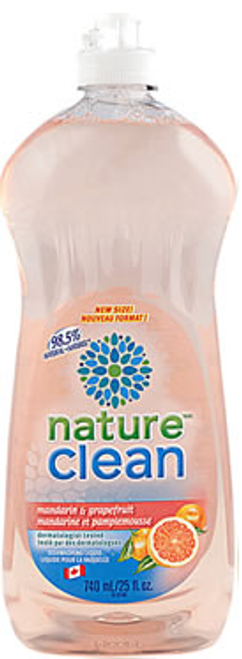 Nature Clean: Dishwashing Lquid Mandarin (740ml)