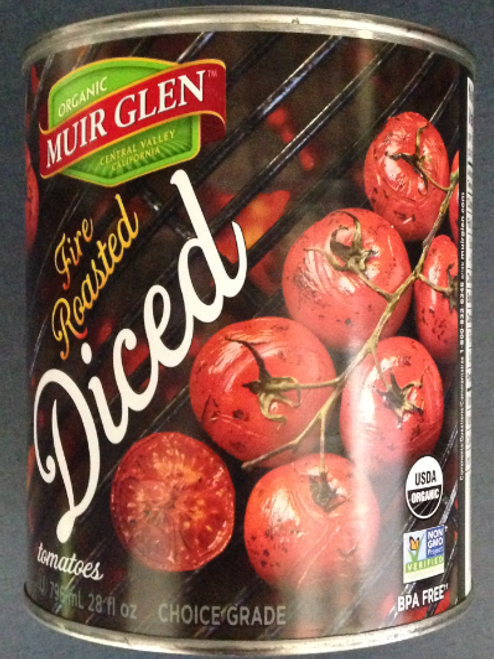 Muir Glen: Organic Fire Roasted Diced Tomatoes (796ml)