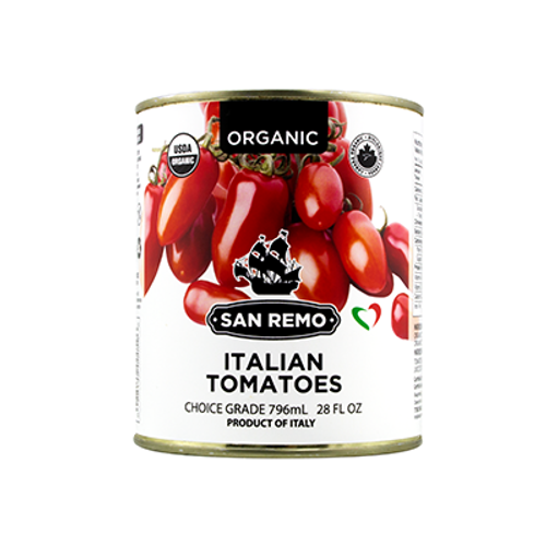 San Remo: Organic Italian Whole Tomatoes