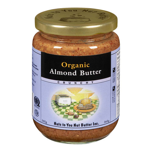 Nuts to you Nut Butter: Organic Almond Butter - Crunchy (365g)