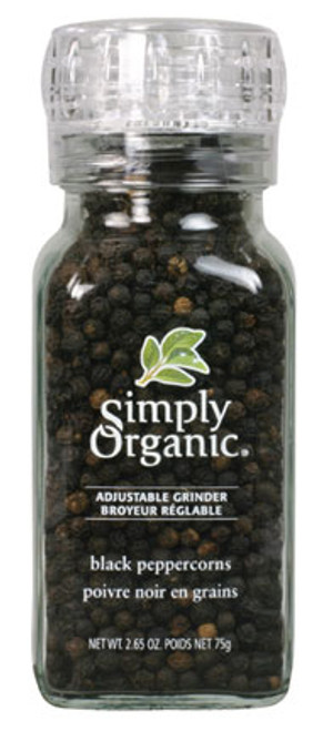 Simply Organic: Black Peppercorns with Grinder (75g)